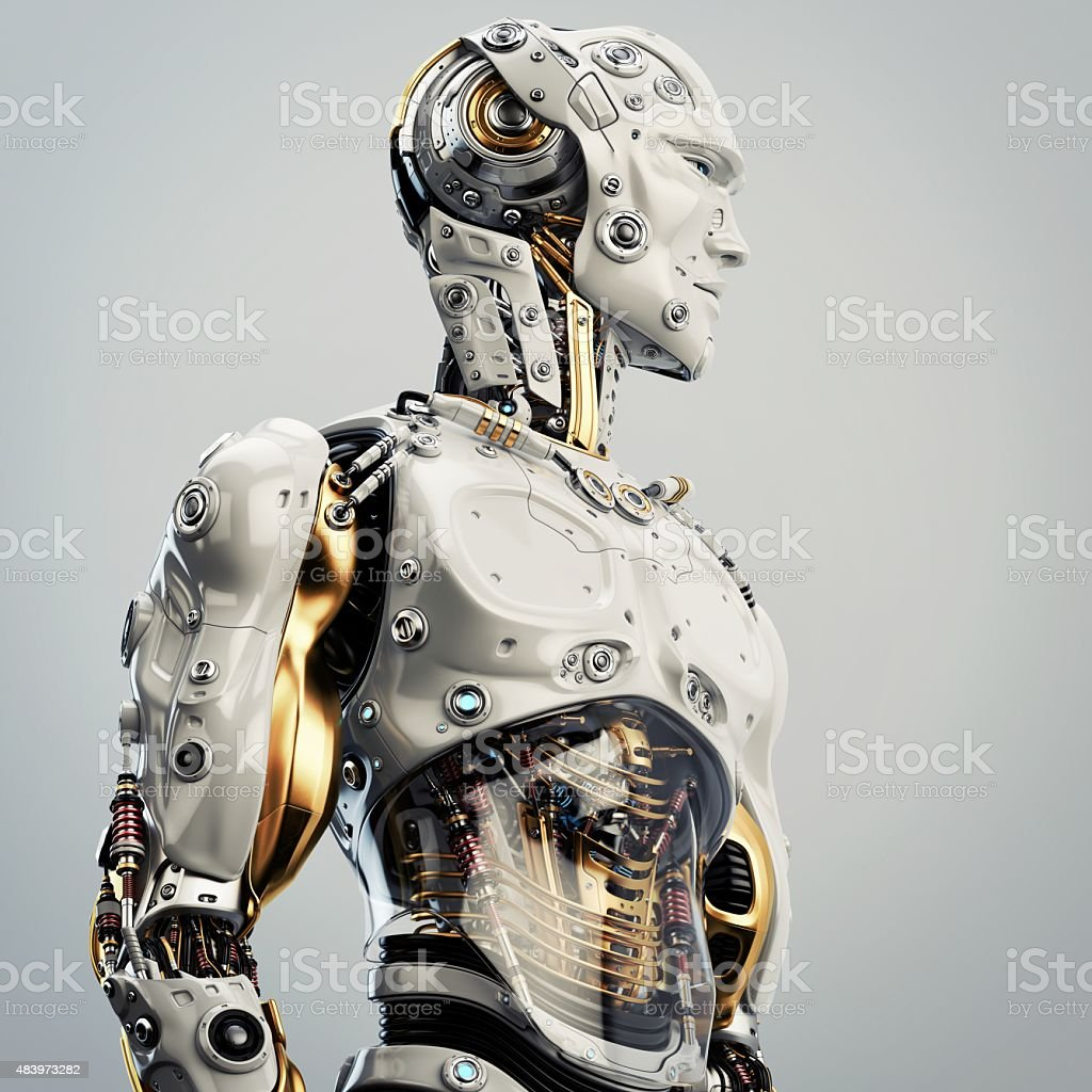 Artificial man stock photo