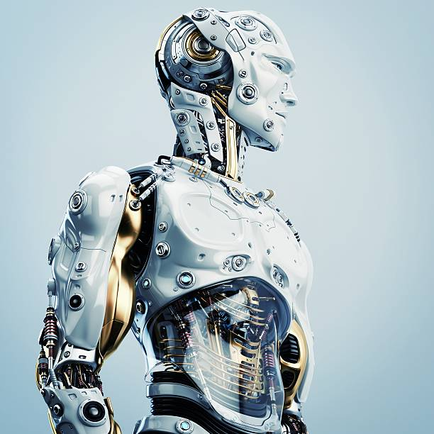 artificial man - cyborg stock photos and pictures