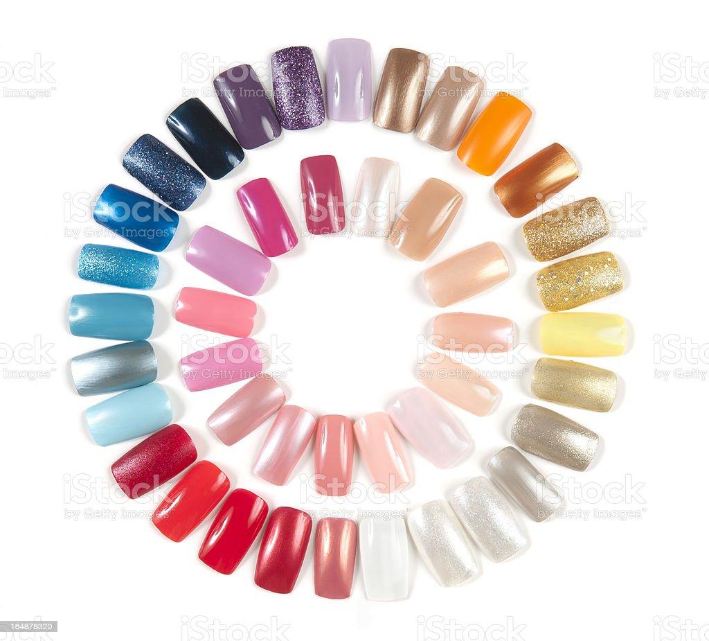 Artificial Nail Display Wheel stock photo