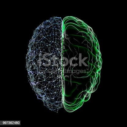 Artificial Intelligence concept Brain Wave, USA, Artificial Intelligence, Globe - Navigational Equipment, Data