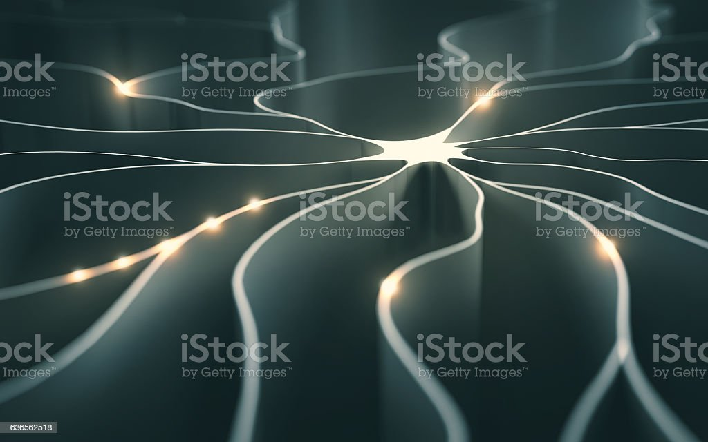 Artificial Neuron Concept stock photo