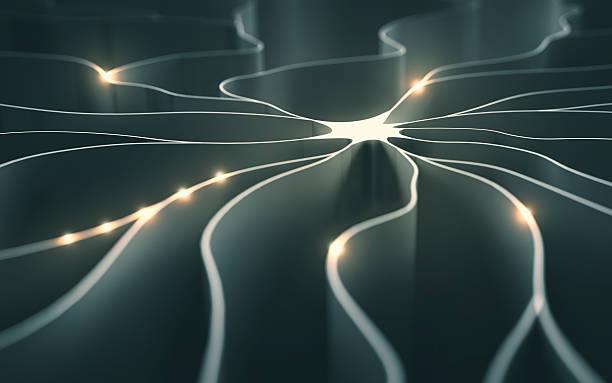 artificial neuron concept - axon stock-fotos und bilder