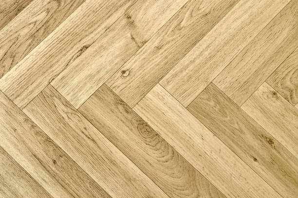 artificial parquet floor stock photo
