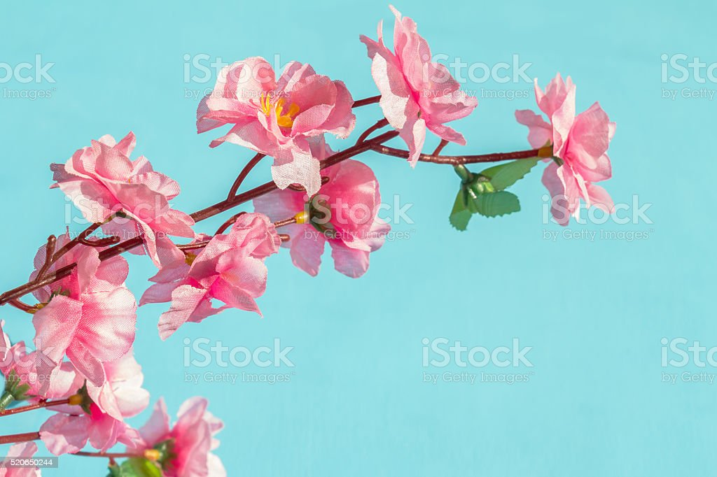Artificial pink flower. stock photo