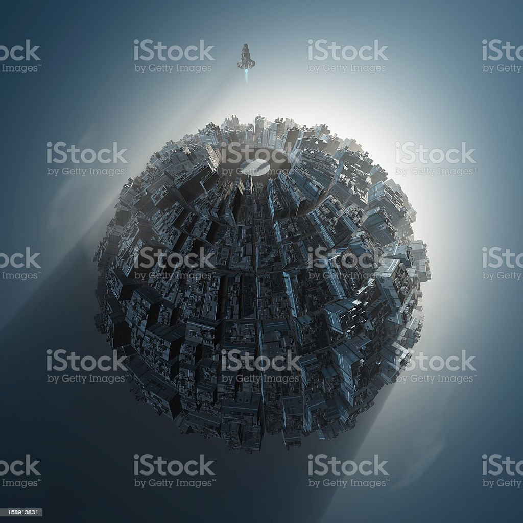 artificial planet royalty-free stock photo