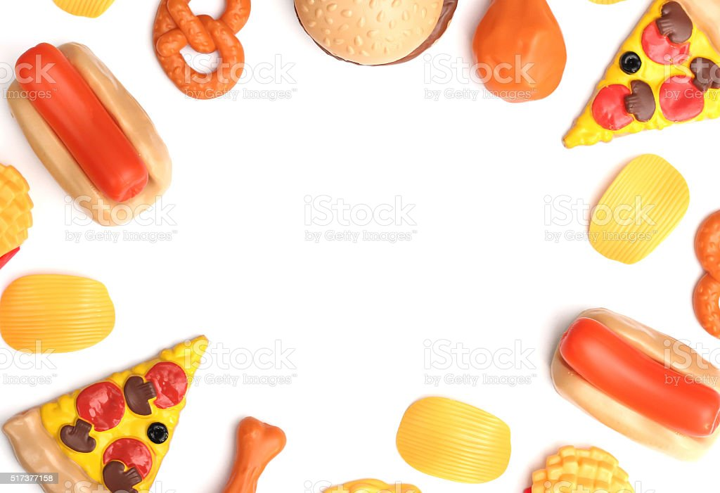 Artificial Plastic Food - Examining today's food industry stock photo