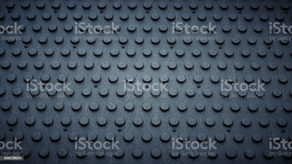Artificial PVC Studded Industrial Floor stock photo