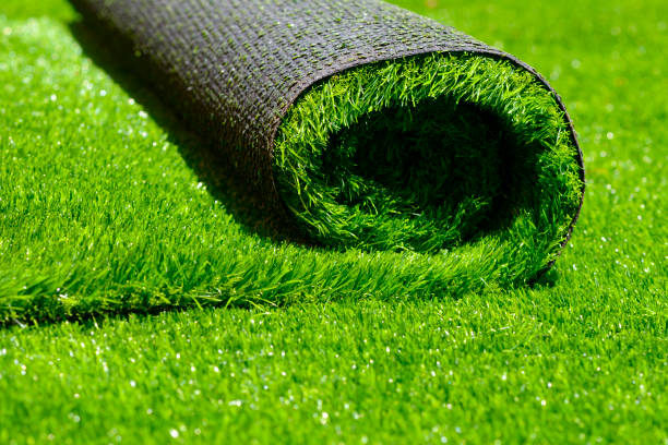 artificial rolled green grass artificial rolled green grass; closeup turf stock pictures, royalty-free photos & images