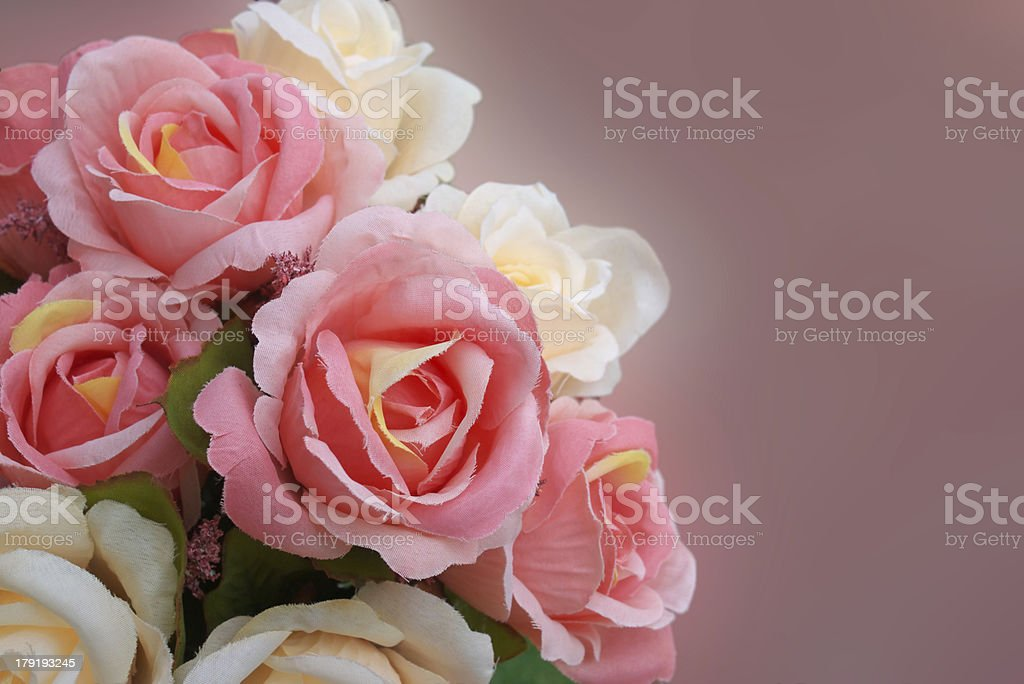 artificial rose flowers royalty-free stock photo