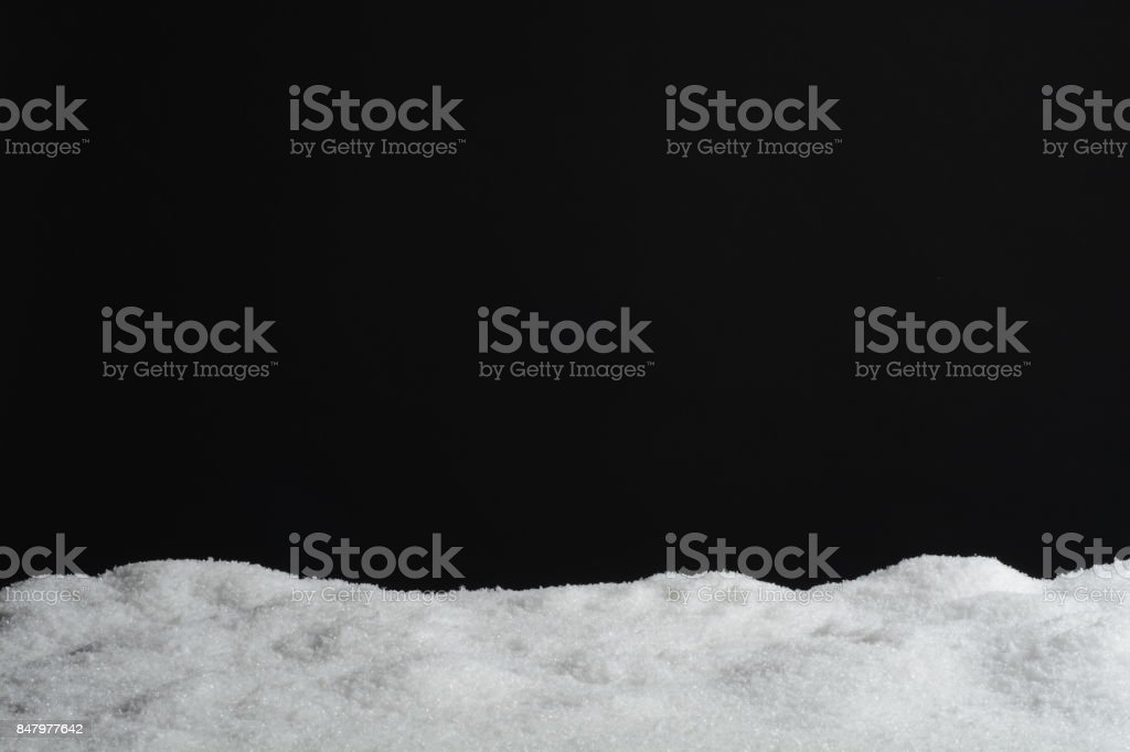 Artificial snow for Christmas decoration stock photo