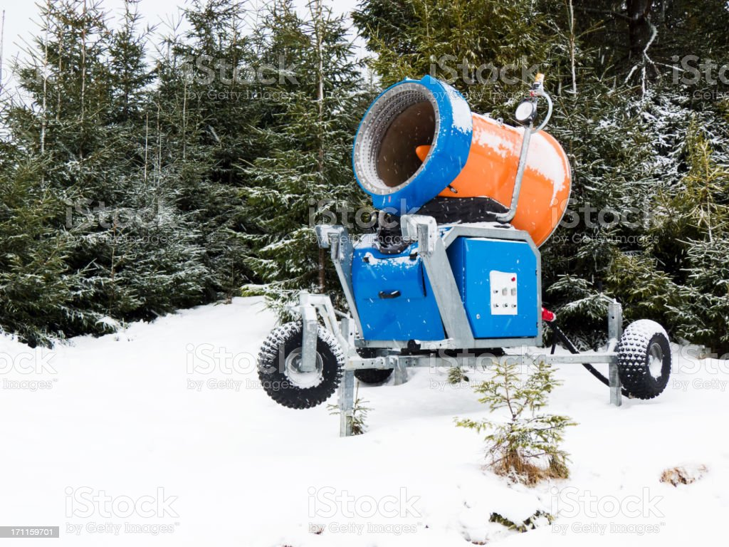 Artificial snow mashine generator royalty-free stock photo