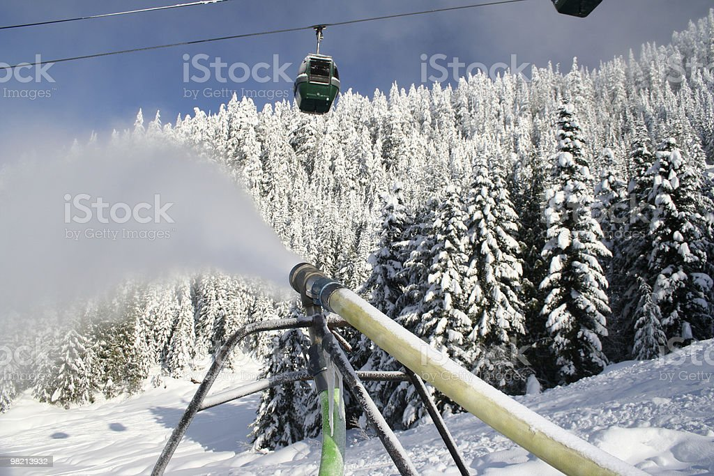 Neve artificiale foto stock royalty-free