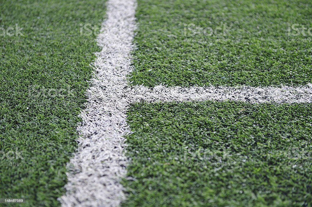 Artificial Soccer Field stock photo