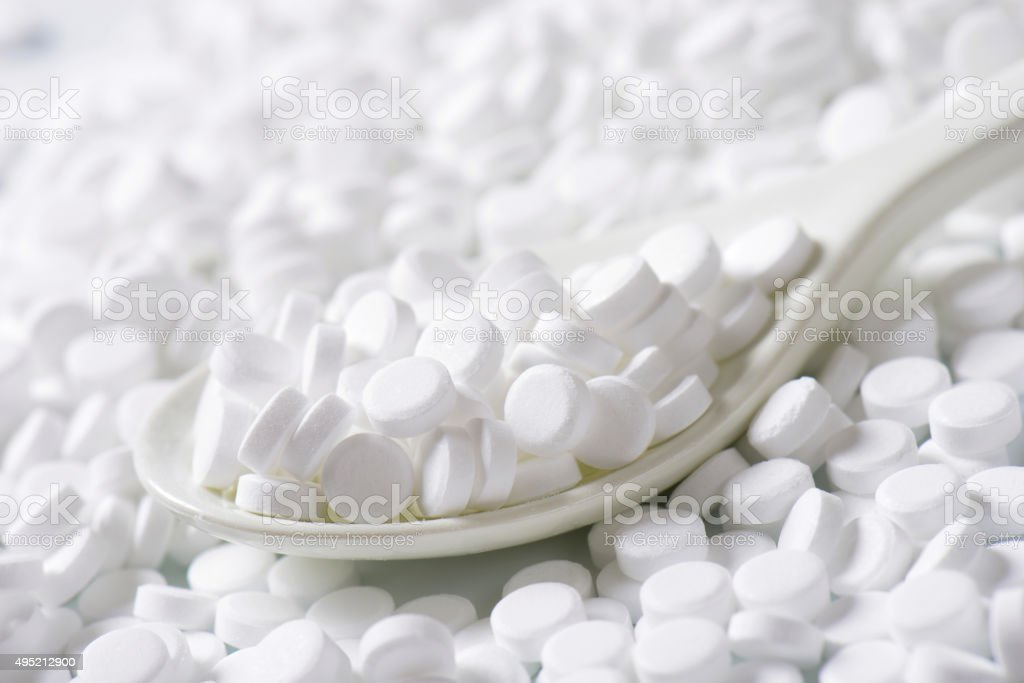 Artificial sweetener tablets stock photo