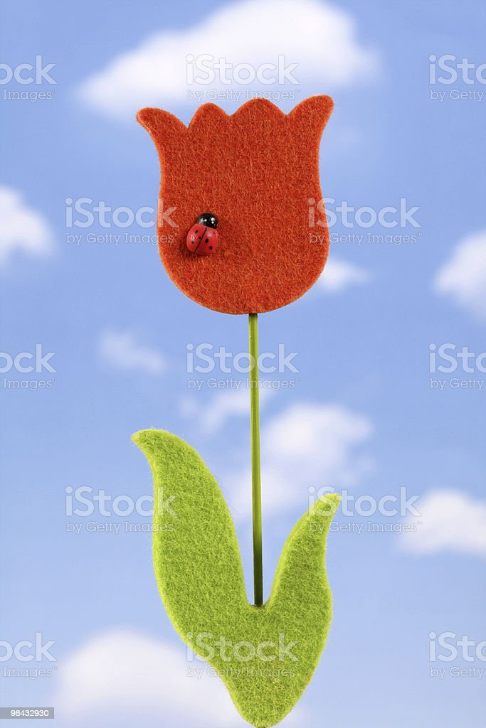 artificial tulip royalty-free stock photo