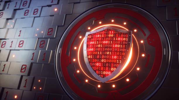 artificial wall mechanism with security shield concept - tarcza broń zdjęcia i obrazy z banku zdjęć