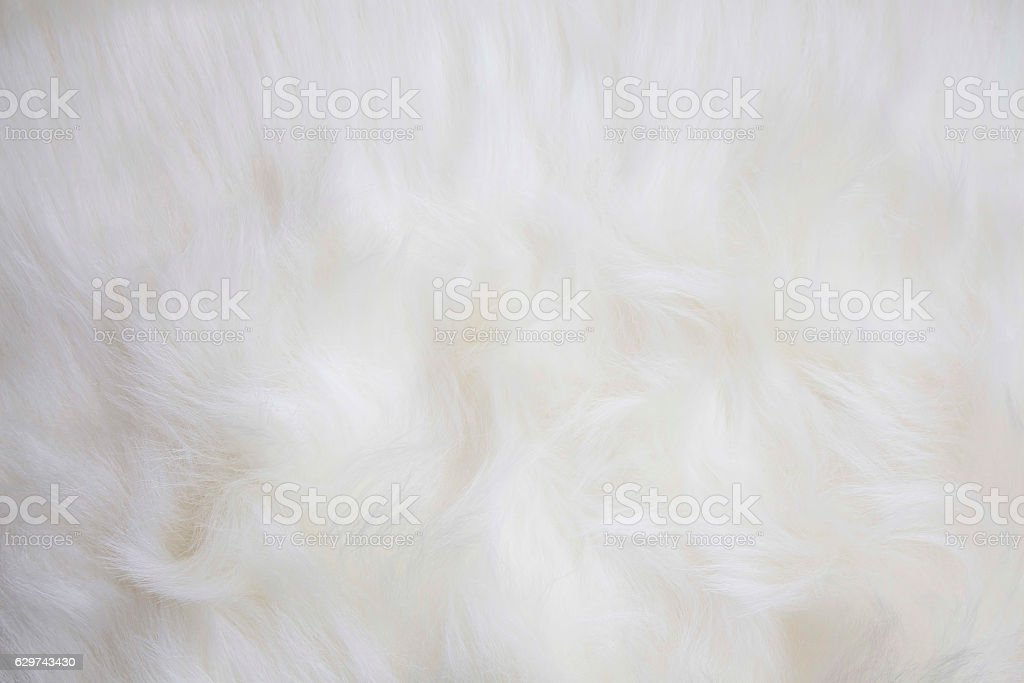 Artificial white fur texture stock photo