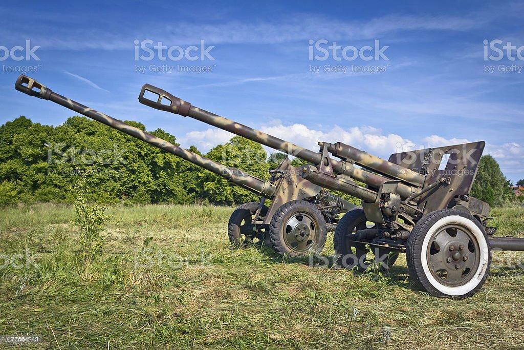 Artillery stock photo