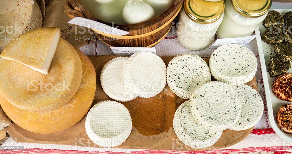 Artisan cheese fair 3 stock photo
