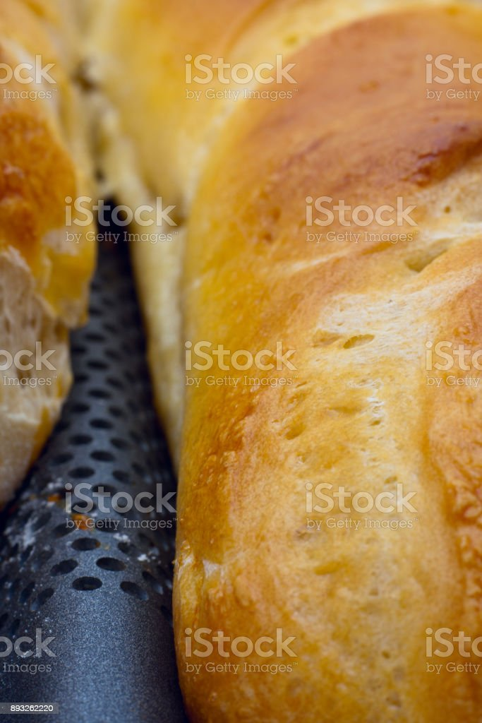 Artisan French Bread Close-up stock photo