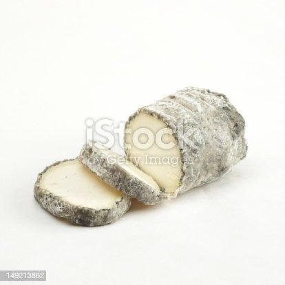 An artisan goat cheese log.
