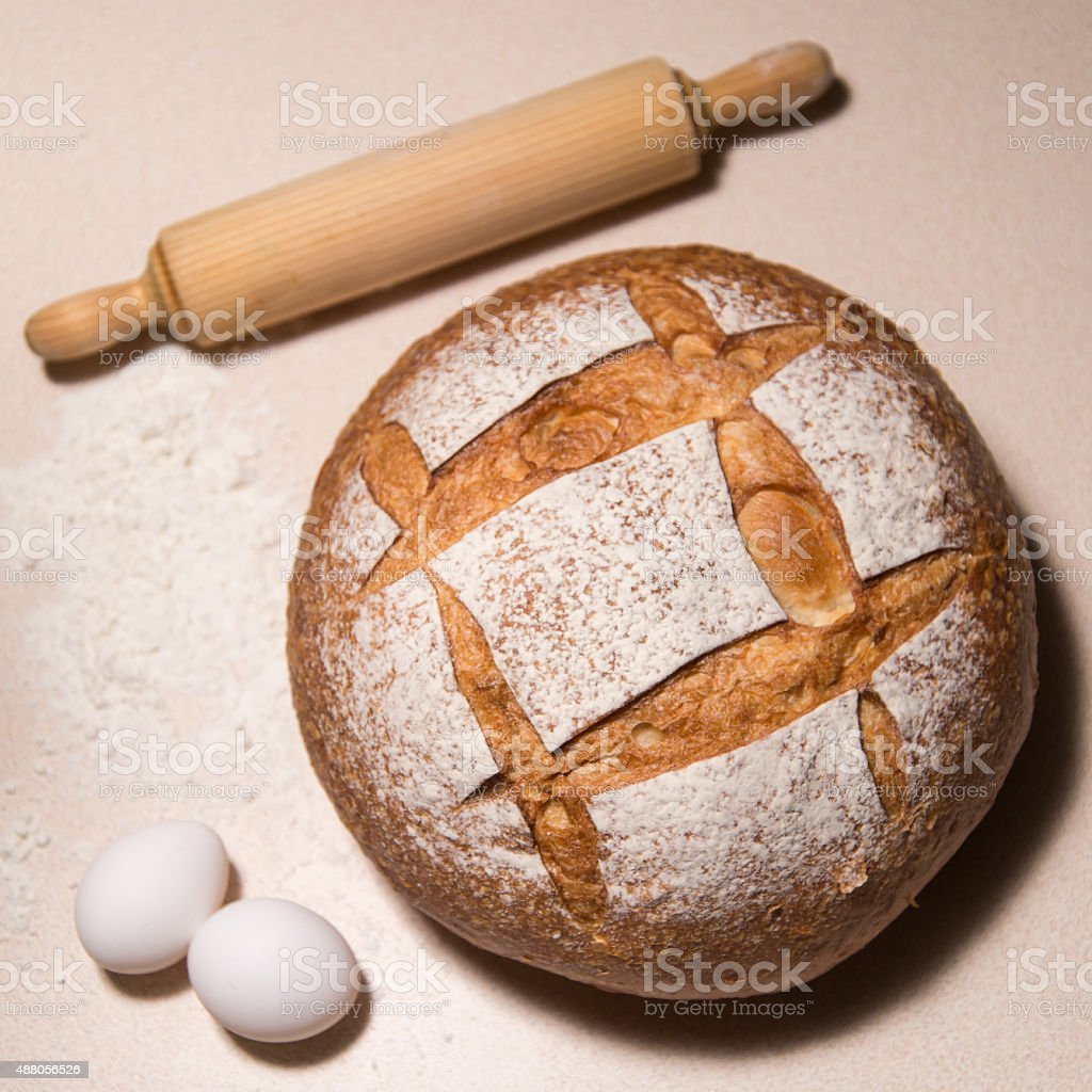 Artisan loaf bread stock photo
