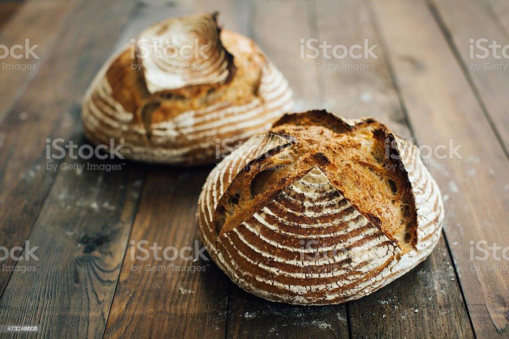 Artisan Sourdough Bread stock photo