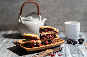 artisanal baked pastry: homemade mulberry pie