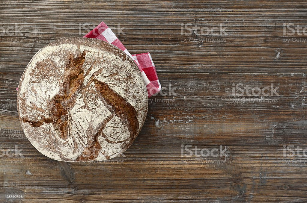 Artisanal German Rye Bread stock photo