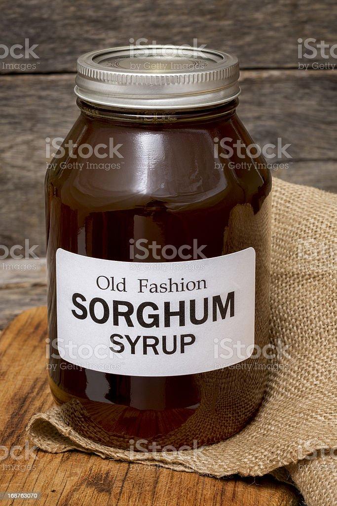 Artisanally Made Sorghum Syrup stock photo