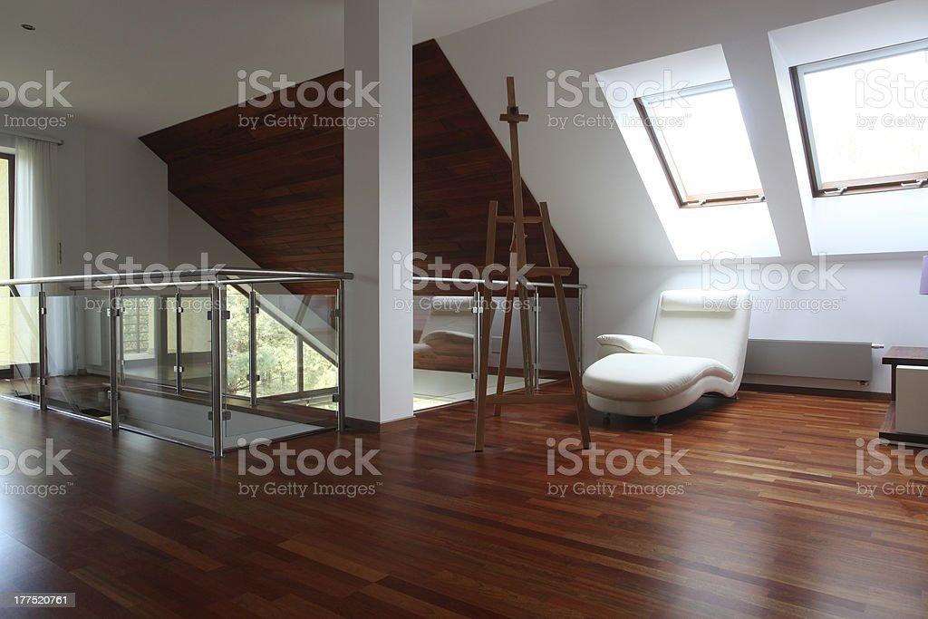 Artist apartment stock photo