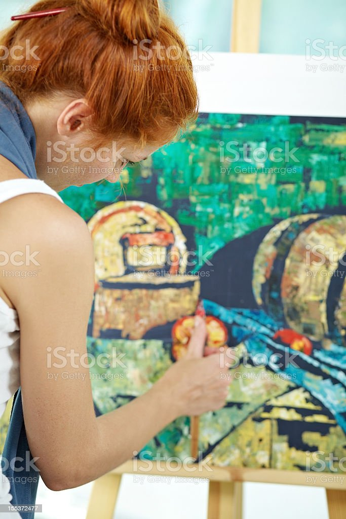 Artist at work royalty-free stock photo