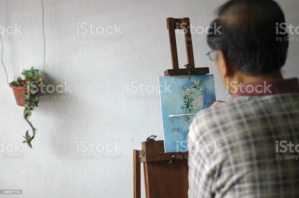 Artist at work royalty free stockfoto