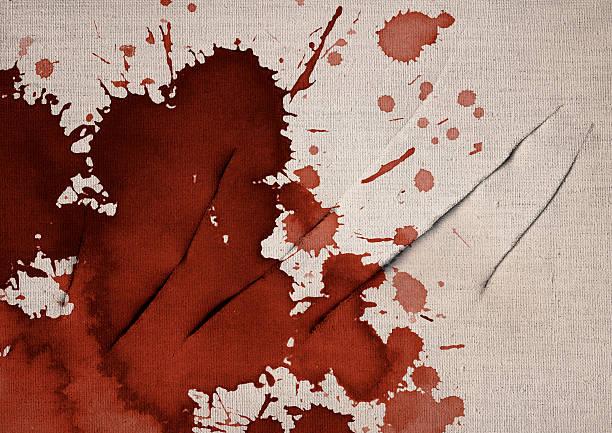 Artist Bloodstained Slit Linen Primed Canvas Grunge Texture stock photo