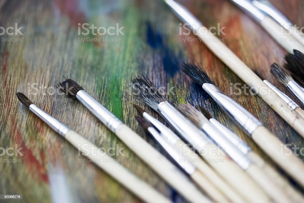 Artist Brushes royalty-free stock photo