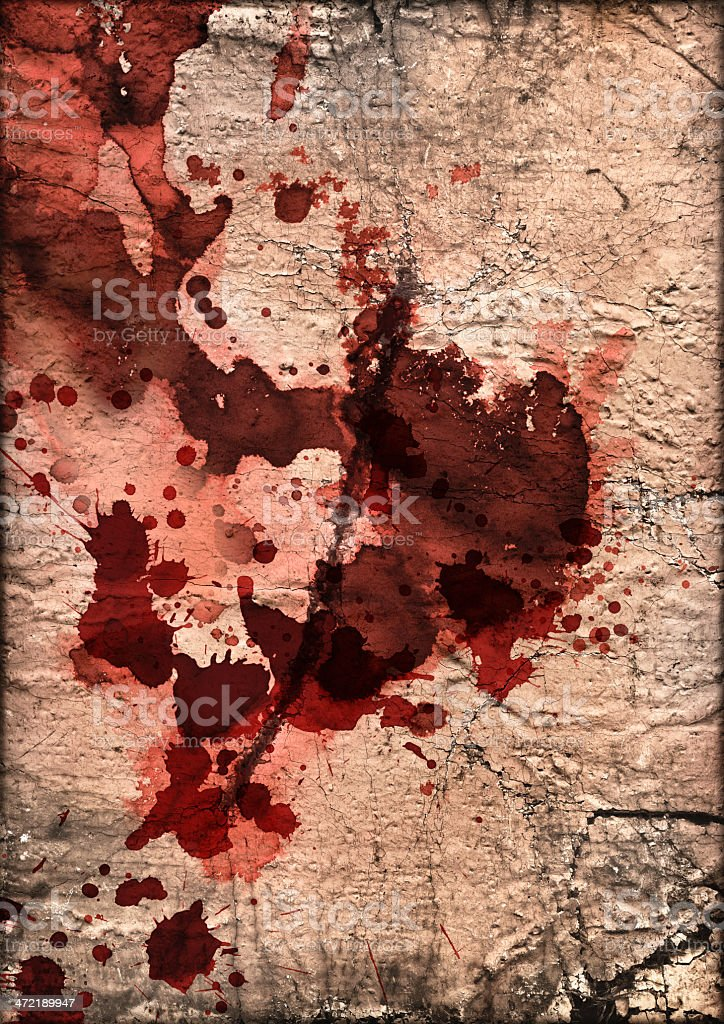 Artist Burlap Canvas Crushed Burnt Slitted Blood Stained Grunge Texture royalty-free stock photo