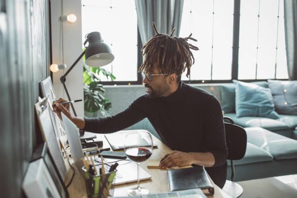 Künstler im Moment gefangen – Foto