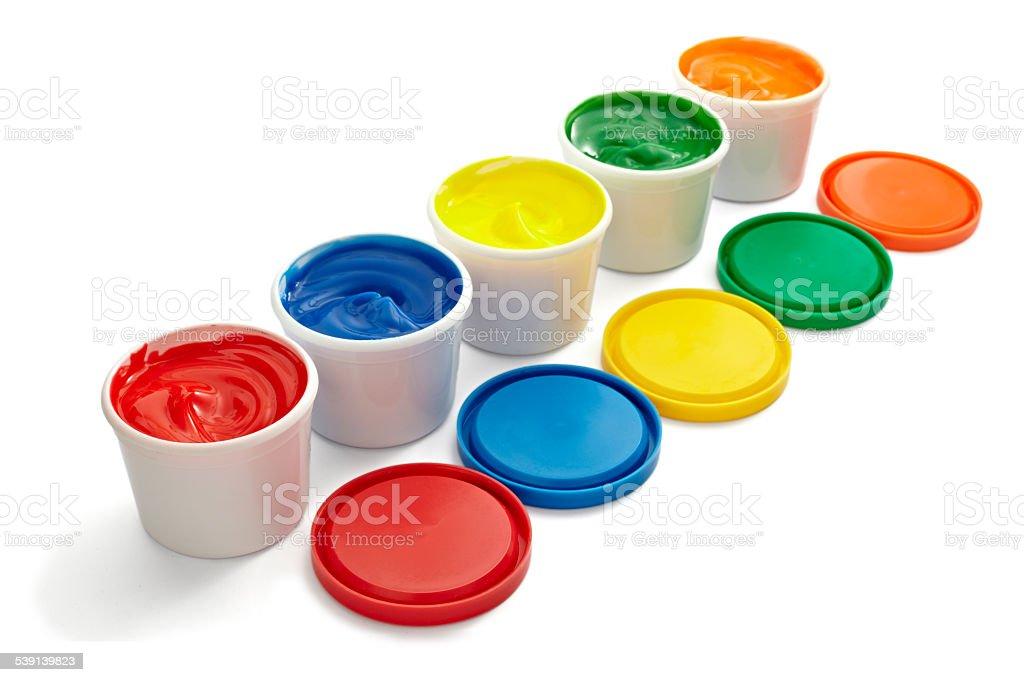 artist color palette paint stock photo