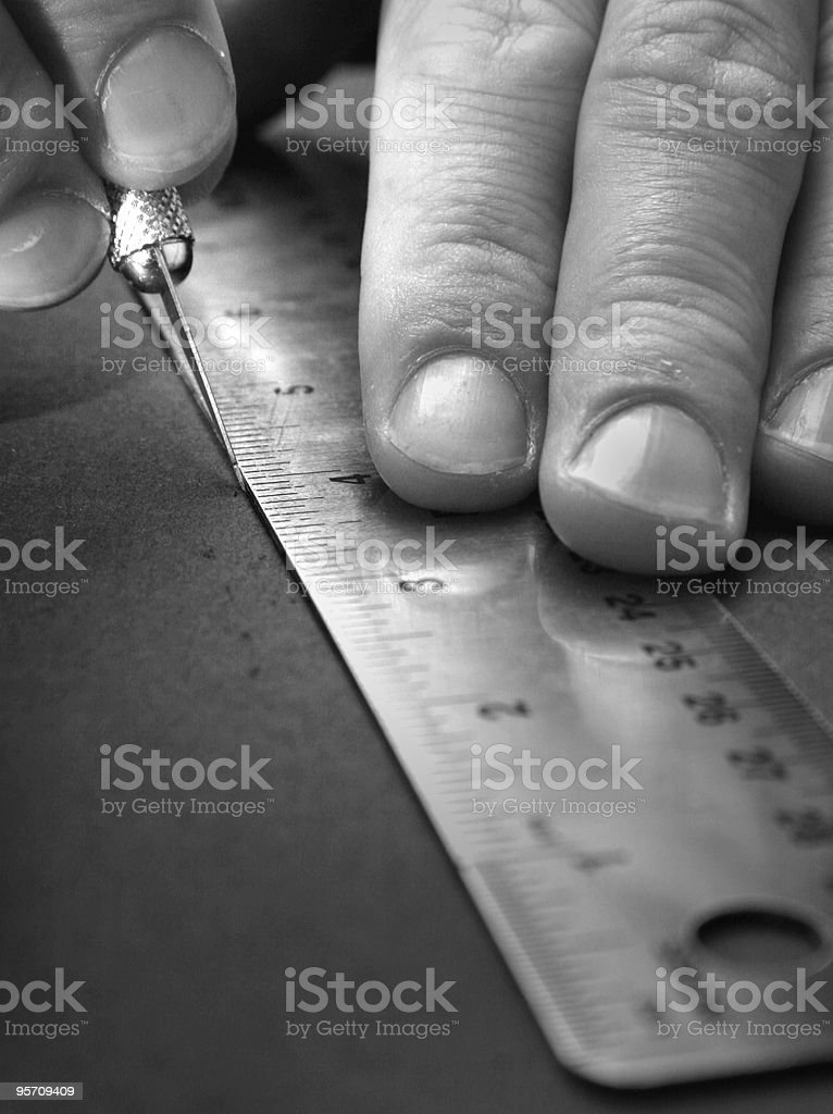 artist cutting stock photo