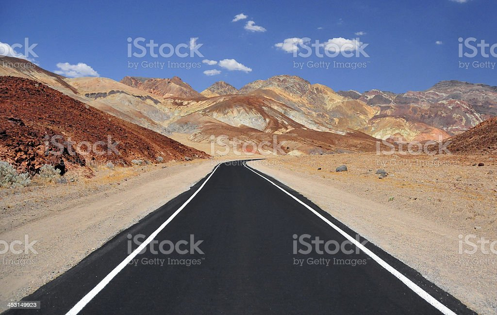 Artist Drive, Death Valley stock photo