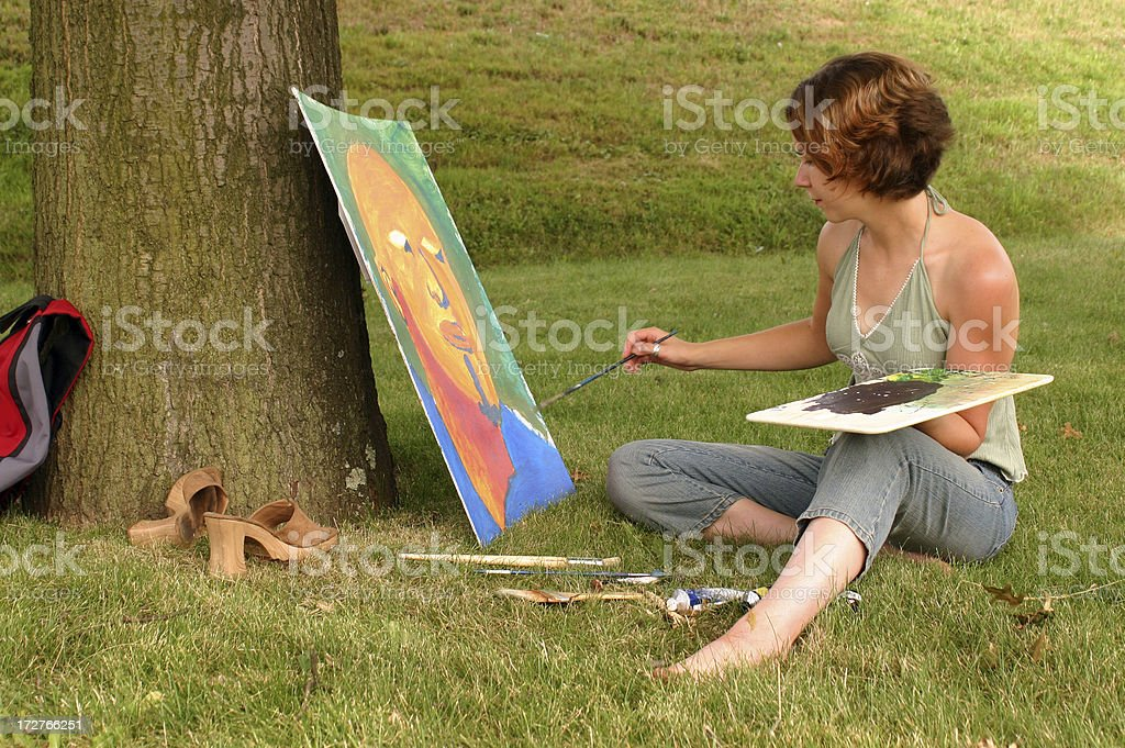 Artist In The Park royalty-free stock photo