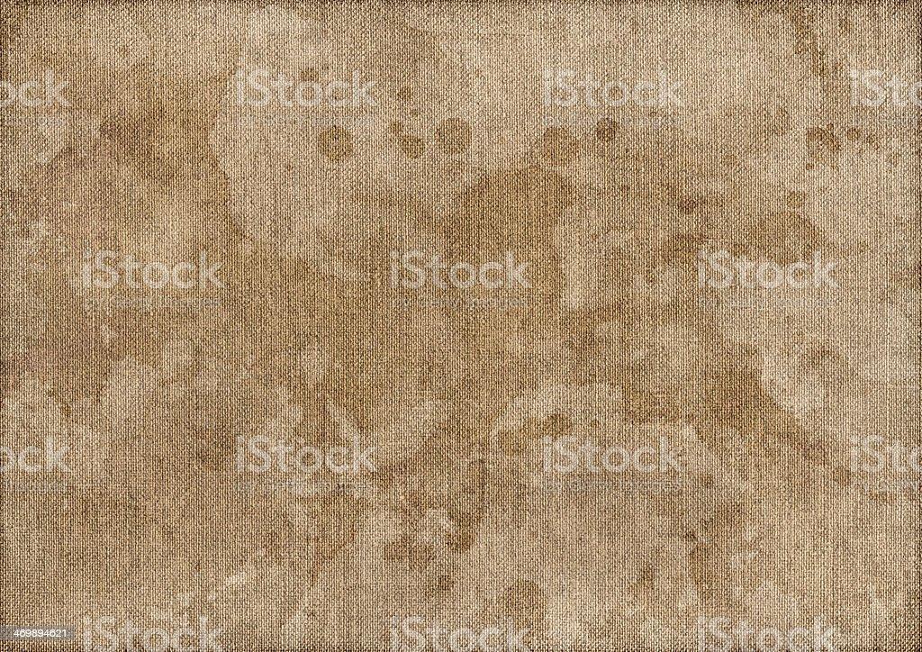 Artist Linen Duck Mottled Canvas Vignette Grunge Texture royalty-free stock photo