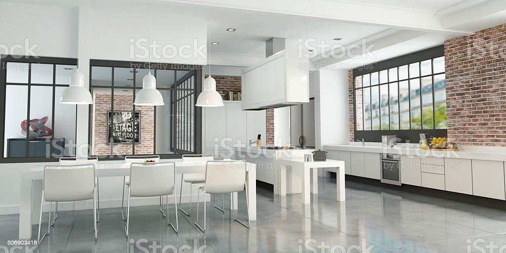 Cocina Tipo Loft De Artista - Fotografía de stock y más imágenes de ...