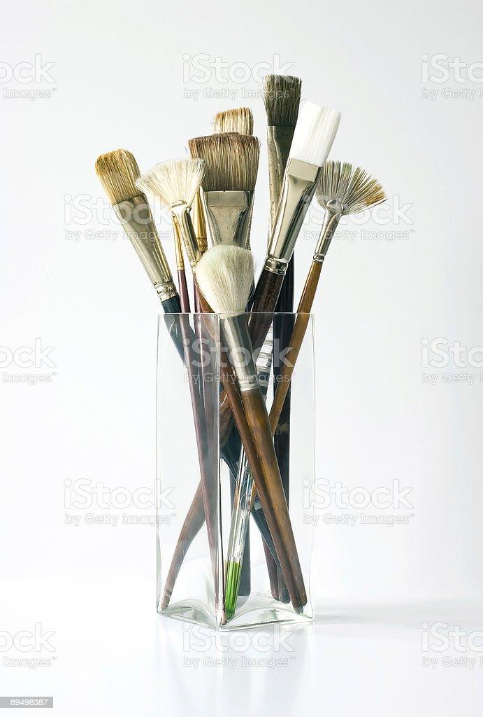 Artist Paint Brush Assortment royaltyfri bildbanksbilder