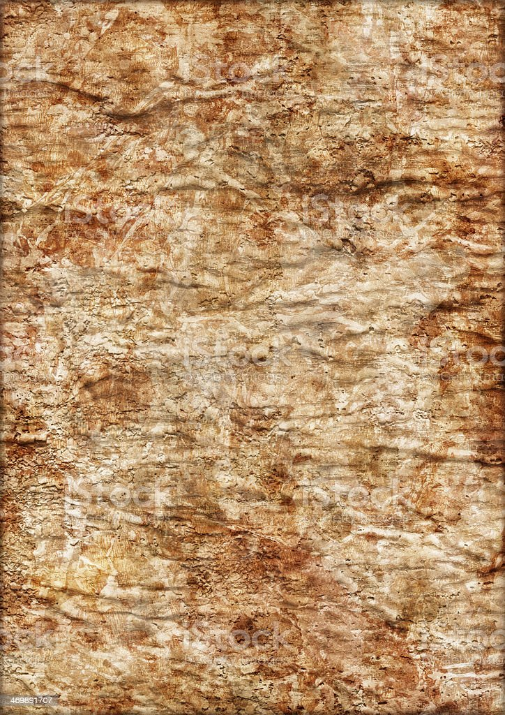 Artist Primed Burlap Canvas Crumpled Mottled Vignette Grunge Texture royalty-free stock photo