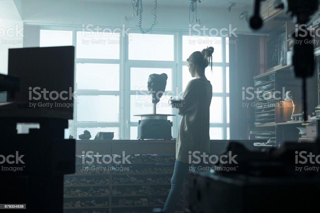 Künstler mit Kaffee entspannen – Foto