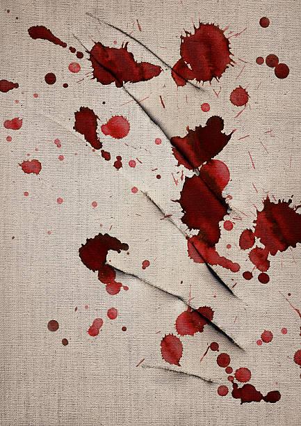 Artist Slit Bloodstained Linen Primed Canvas Grunge Texture stock photo
