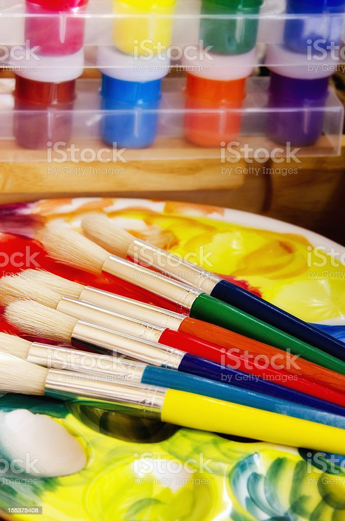 Artist tools royalty-free stock photo