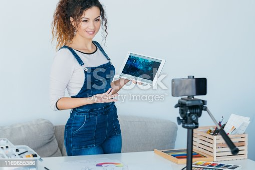 istock artist video blog creative lady application tablet 1169655386