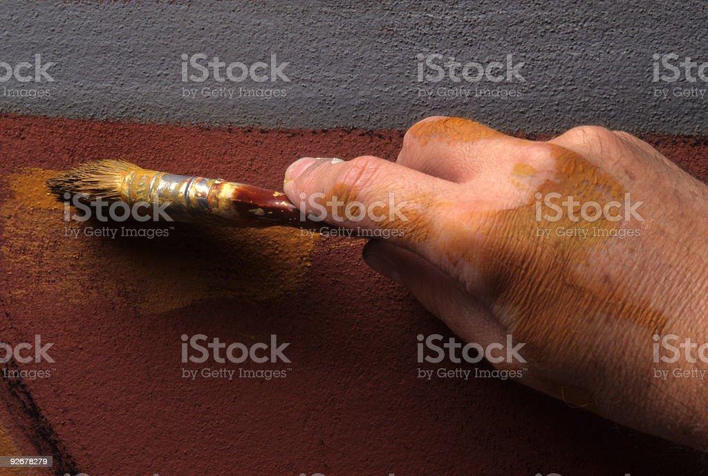 Artist working royalty-free stock photo